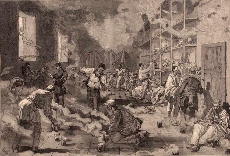 Daniel Vierge: De Cuba a Leganés, soldados infectados por la fiebre amarilla en 1878