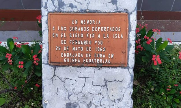 El monumento a los cubanos deportados a Fernando Poo